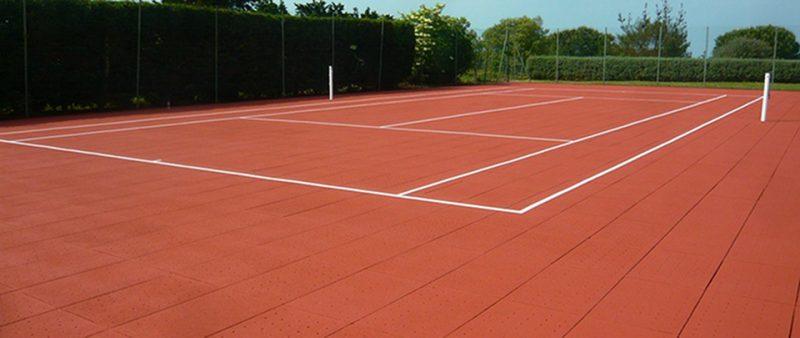 rénovation terrain de tennis clerdal